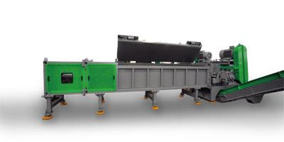 AGR800+AGF700 shredding and crushing system for 630mm PE pipe